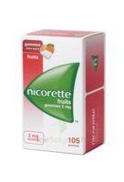 Nicorette 2 Mg Gomme à Mâcher Médicamenteuse Sans Sucre Fruits Plq/105 à Chelles
