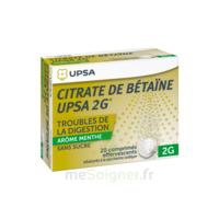 Citrate De Bétaïne Upsa 2 G Comprimés Effervescents Sans Sucre Menthe édulcoré à La Saccharine Sodique T/20 à Chelles