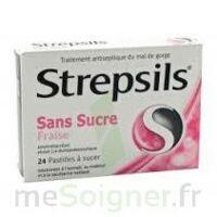 Strepsils Fraise Sans Sucre, Pastille édulcorée à L'isomalt, Au Maltitol Et à La Saccharine Sodique à Chelles