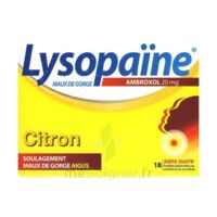 LysopaÏne Ambroxol 20 Mg Pastilles Maux De Gorge Sans Sucre Citron Plq/18 à Chelles