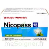 Nicopass 1,5 Mg Pastille Sans Sucre Menthe Fraîcheur Plq/96 à Chelles