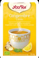 Yogi Tea Tisane Ayurvédique Gingembre Citron Bio 17 Sachets/1,8g à Chelles