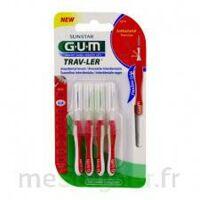 Gum Trav - Ler, 0,8 Mm, Manche Rouge , Blister 4 à Chelles