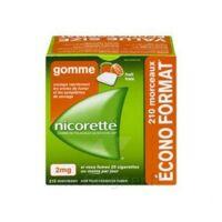 Nicorette 2 Mg Gomme à Mâcher Médicamenteuse Sans Sucre Fruits Plq/210 à Chelles