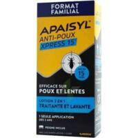 Apaisyl Anti-poux Xpress 15' Lotion Antipoux Et Lente 200ml+peigne à Chelles