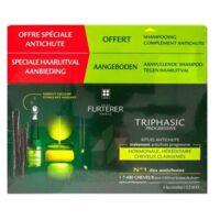 René Furterer Triphasic Progressive Sérum Antichute Coffret 8 Flacons X 5,5ml + Shampoing Stimulant 100 Ml à Chelles